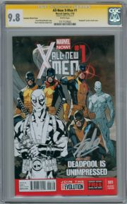 All New X-Men #1 Immonen Deadpool Sketch Variant CGC 9.8 Signature Series Signed Stan Lee Marvel comic book